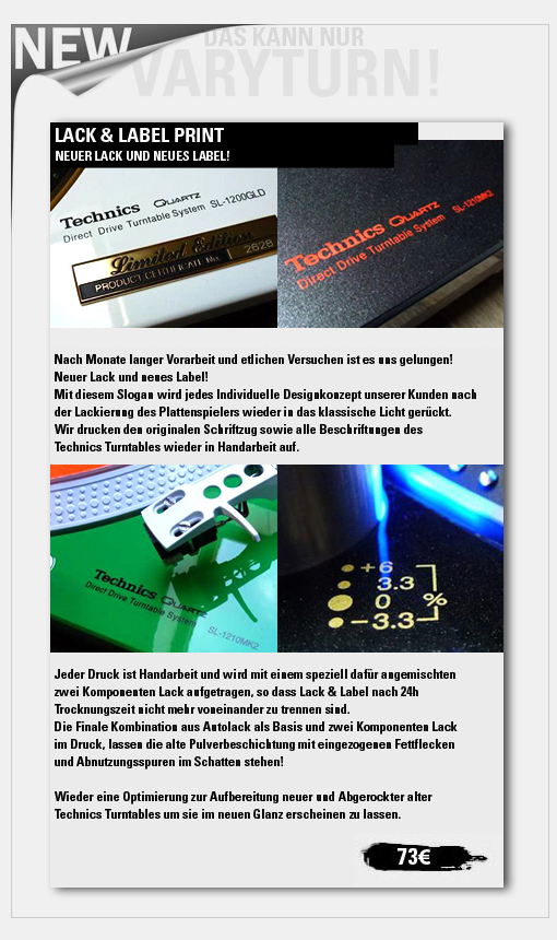 varyturn.com Lack und Label Print